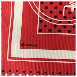 Hermès-Seiden Schals-Rot