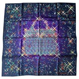 Hermès-Silk scarves-Purple