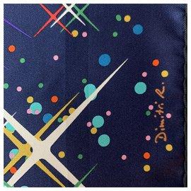 Hermès-Seiden Schals-Lila