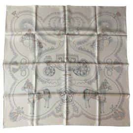 Hermès-Silk scarves-Cream