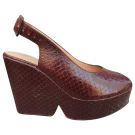Robert Clergerie-Robert Ckergerie p sandals 36,5 new condition-Dark red