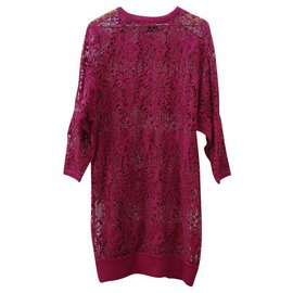 Isabel Marant-Dresses-Dark red