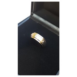 Piaget-PIAGET Possession ring White gold and 7 P diamonds.b 10.25 grs-Silvery