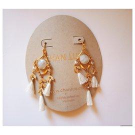 Chan Luu-Earrings-White,Golden