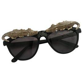 Anna Dello Russo pour H & M-Sunglasses-Black