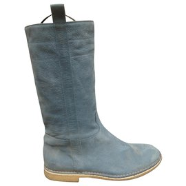 Sartore-Sartore p suede boots 40-Light blue