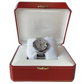 Cartier-Cartier Ballon Bleu de Cartier Uhr 42 MM-Silber