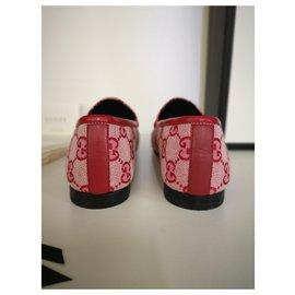 Gucci-Mocassins Gucci New Jordaan-Rouge