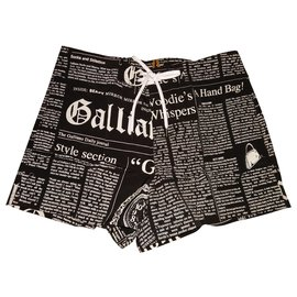 John Galliano-New John Galliano Newspaper... Swim shorts Underwear T /3 is 42fr-Black