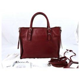 Balenciaga-Balenciaga A6 Zip around paper-Dark red