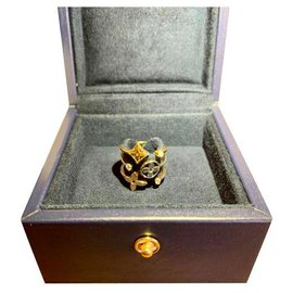 Louis Vuitton-Idylle Blossom Ring in White Rose and Yellow Gold with diamonds-Multiple colors