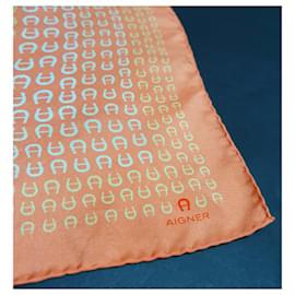 Aigner-Seiden Schals-Mehrfarben
