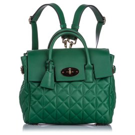Mulberry-Mulberry Green Cara Delevigne Quilted Leather Backpack-Green