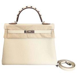 Hermès-Hermes Kelly 32 Au Galop-Beige