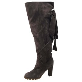 Chloé-Over the knee boots-Dark grey