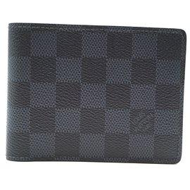 Louis Vuitton-Portefeuille Louis Vuitton Damier Graphite Classic Bifold-Noir