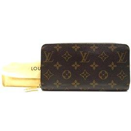 Louis Vuitton-Portefeuille long à fentes pour cartes monogrammées Louis Vuitton-Marron