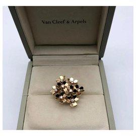 Van Cleef & Arpels-Bague Van Cleef and Arpels Frivole 8 fleurs en or jaune-Doré