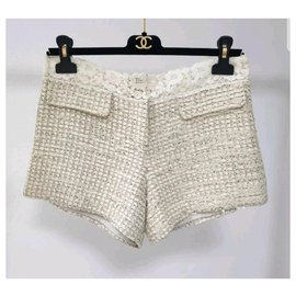 Chanel-Chanel Tweed Shorts Sz 38-Multiple colors