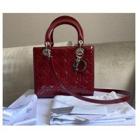 Dior-Sac Dior Lady Dior Medium-Rouge