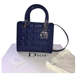 Dior-Sac Dior Lady Dior Medium-Bleu,Bleu foncé