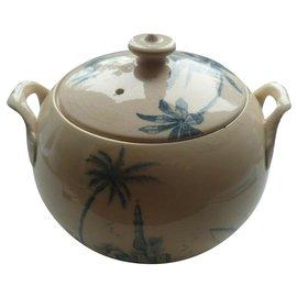 Autre Marque-Gien France porcelain sugar bowl-Blue