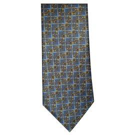 Hermès-Neue Seidenkrawatte-Blau