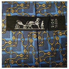 Hermès-New silk tie-Blue