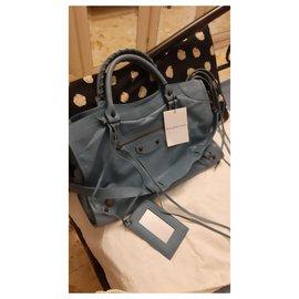 Balenciaga-Handbags-Light blue