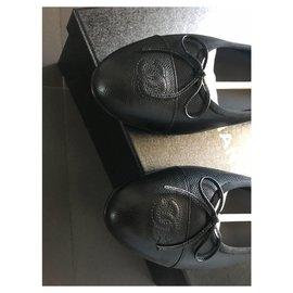 Chanel-CHANEL BALLET FLATS BALLERINA BRAND NEW-Black