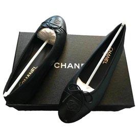 Chanel-CHANEL BALLET FLATS BALLERINA BRAND NEW 35,5-Black