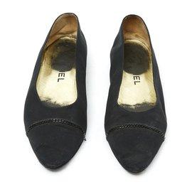 Chanel-BLACK SATIN HAUTE COUTURE FR38-Black