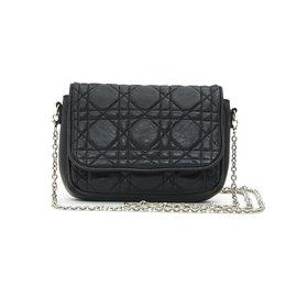 Christian Dior-LADY DIOR MINI BAG BLACK-Black