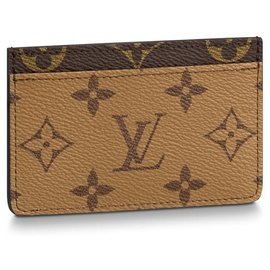 Louis Vuitton-LV card holder new-Brown