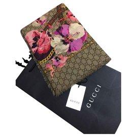 Gucci-Gucci Schal Blumen neu-Beige,Fuschia
