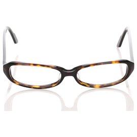 Gucci-Gucci Brown Transparenter optischer Rahmen-Braun