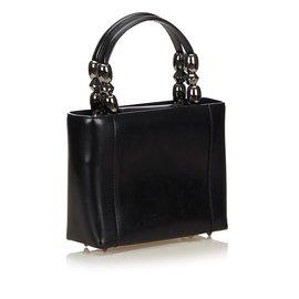 Dior-Sac à main Dior en cuir noir Malice-Noir