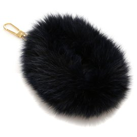 Chloé-Chloe Blue Fur Bag Charm-Blue,Dark blue