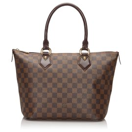 Louis Vuitton-Louis Vuitton Brown Damier Ebene Saleya PM-Braun