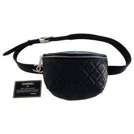 Chanel-Banana belt bag-Black