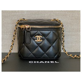Chanel-Chanel Runway Small Lambskin Classic Box Pearl Crush-Black