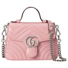 Gucci-marmont mini top handle bag-Pink