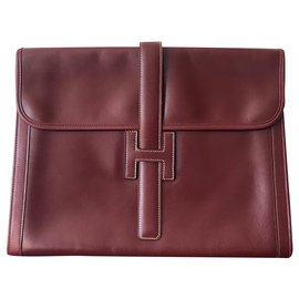 Hermès-Jige-Dark red