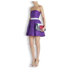 Mary Katrantzou-neues Runway Jacquard Kleid-Lila