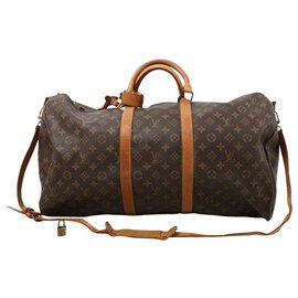 Louis Vuitton-Louis Vuitton Keepall 55-Brown