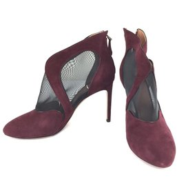 Alaïa-ALAÏA Burgundy Suede Pumps-Other
