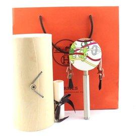 Hermès-Hermes Multicolor Petit H Chinese Rattle Ocean Drum-Multicolore
