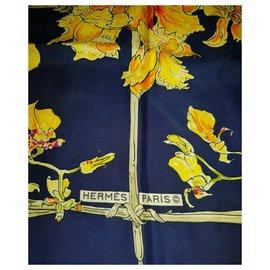 Hermès-Orchidées-Blue