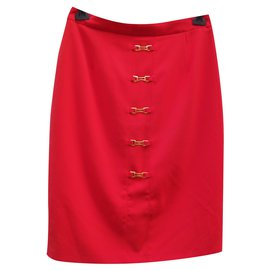 Burberry-Skirts-Red