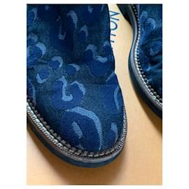 Louis Vuitton-Bottines-Bleu Marine